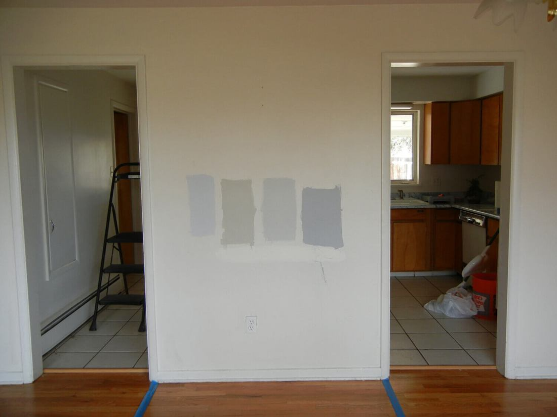 Dining Room Remodel - Before: view of wall separating dining room and kitchen
